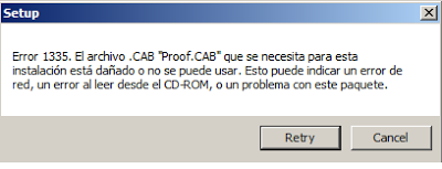 Spanish Error 1335 when Installing SharePoint 2013 Server on a VM