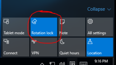 enable rotation in windows 10