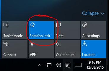 Enable rotation on Surface Pro with Windows 10