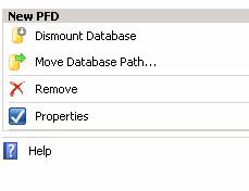 dismount exchange public folder database