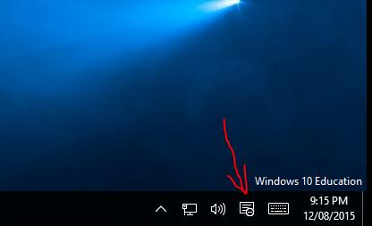 open menu in windows 10