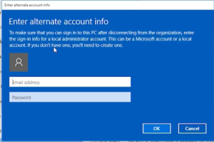 """Cannot """"Disconnect from organization"""" when joined to Azure AD on Windows 10"""